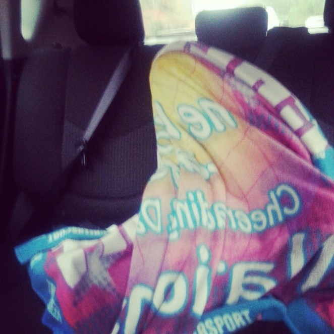 On the way to school:)